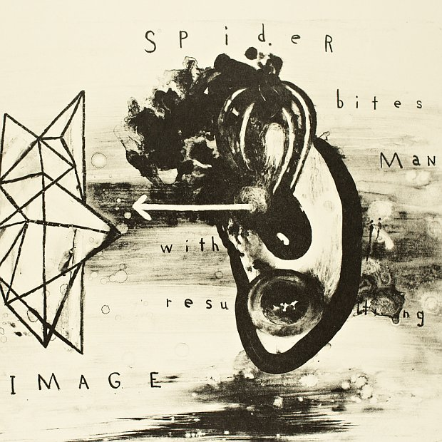 David Lynch. Dark Stages / Spider Bites Man with Resulting Image